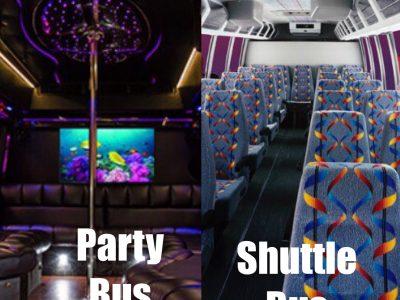 Shuttlebus v party bus